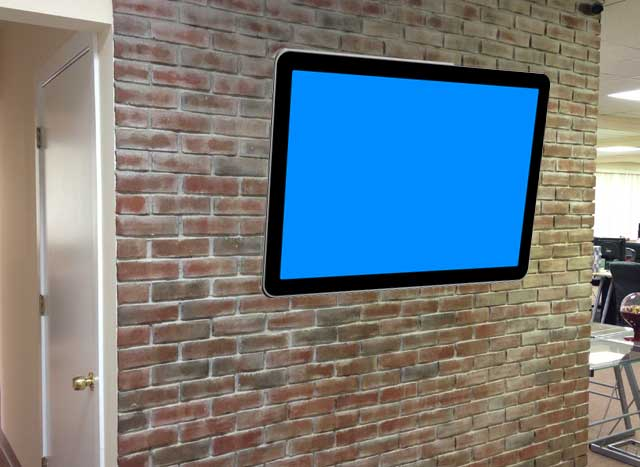 RustyBrick Brick Wall With TV