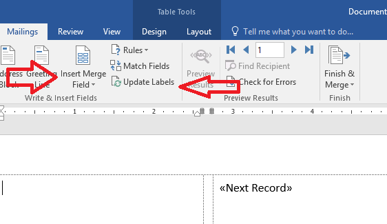 How to create a mail merge template in word 2020